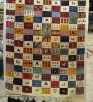 chessboard design Gabbeh rug For Export
